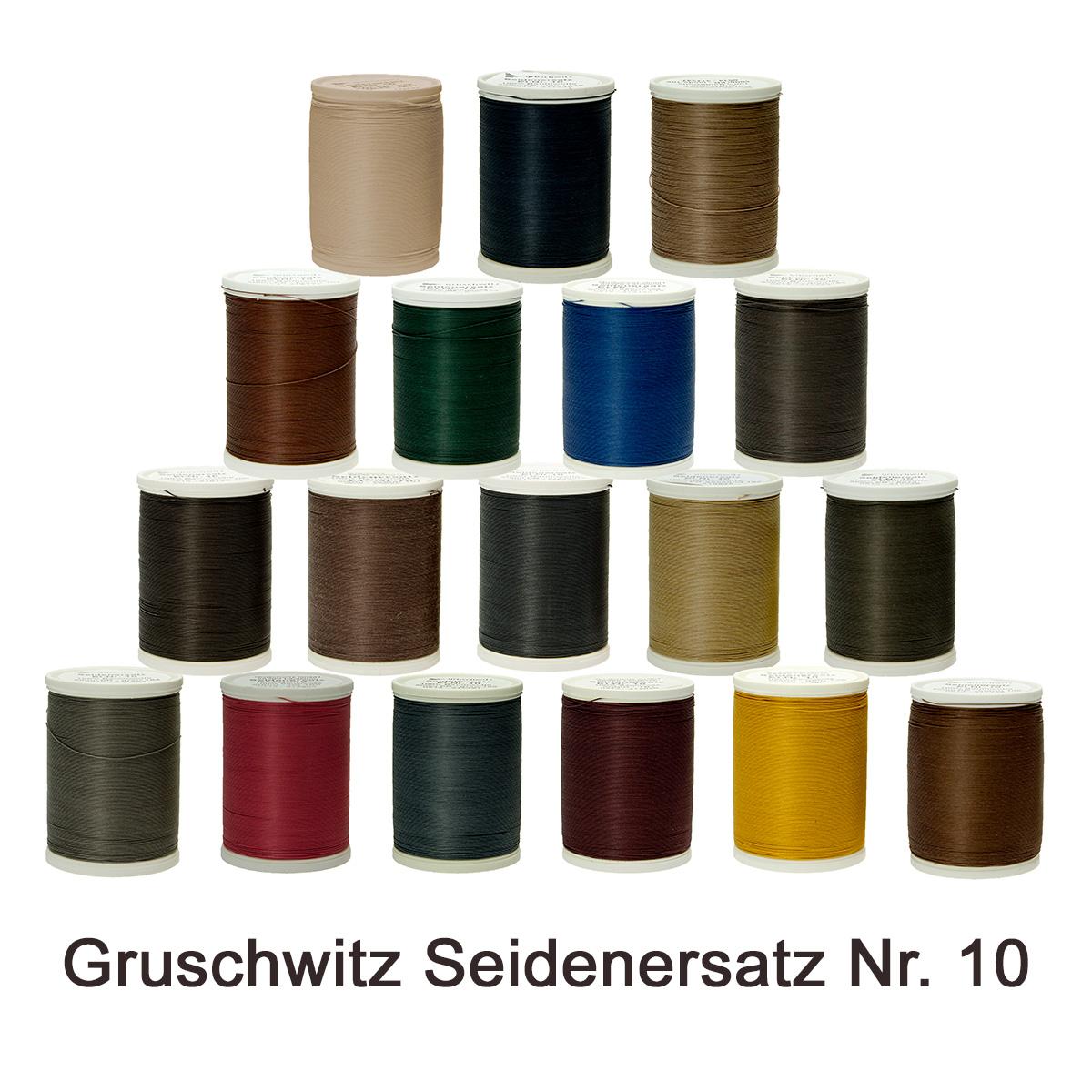 165 10 Rot Gruschwitz Seidenersatz Schuhmacher Garn Nr