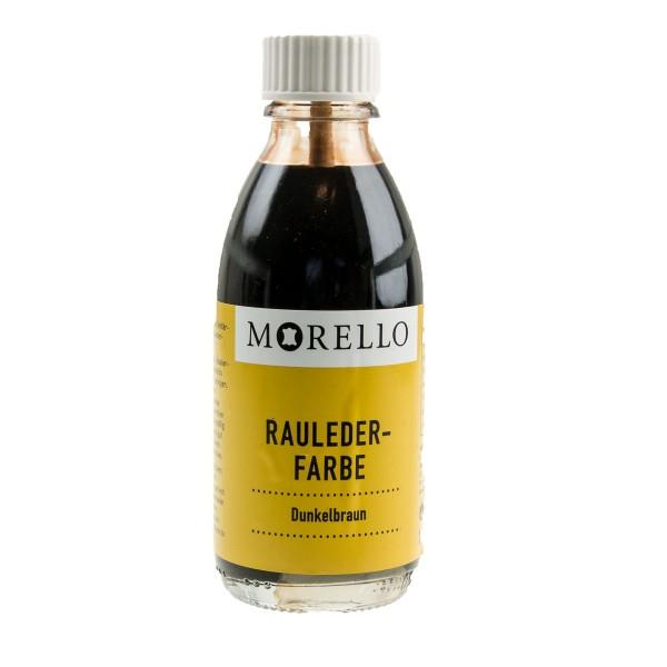 Morello Wildlederfarbe dunkelbraun 100ml Pinselflasche