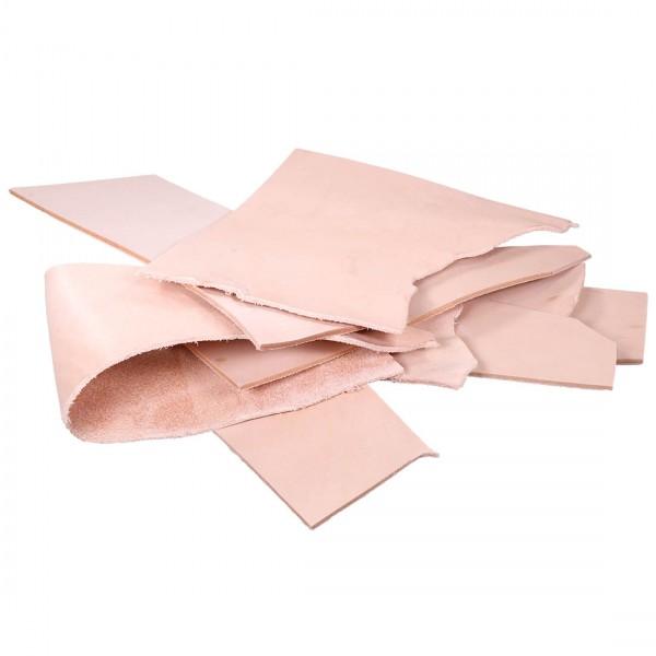 Blankleder Punzierleder Reste Gr.1 1kg 2,5 - 3,0mm dick
