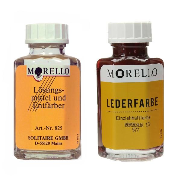 Morello Lederfarbe (nach Wahl) und Morello Leder Reiniger im SET