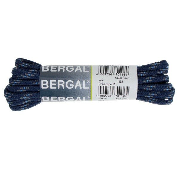 Bergal Schnürsenkel 150cm für Berg und Wanderschuhe dunkelblau/hellblau
