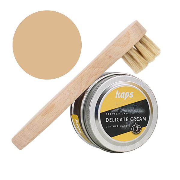 Kaps Delicate Cream 50ml Schuhcreme + Auftragsbürste