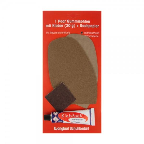 uk availability b62c2 4c6a4 Besohlgarnitur Schonsohle hell für die Reparatur von Damenschuhen
