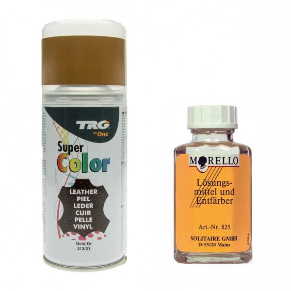 TRG Lederfarbspray 150ml + Morello Lederreiniger