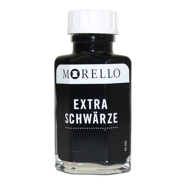 Morello Extra Schwärze 50ml mit Pinsel - Lederfarbe Lederschwärze