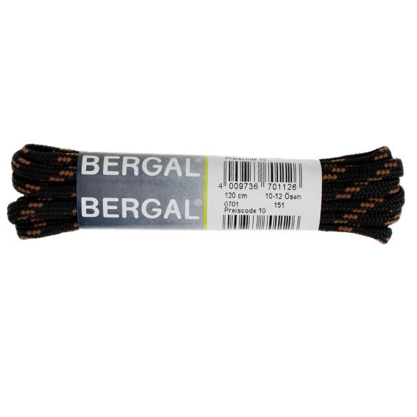 Bergal Schnürsenkel 150cm für Berg und Wanderschuhe schwarz/braun