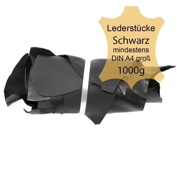 Lederstücke 1kg schwarz DIN A4
