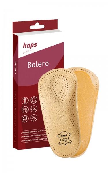 Kaps Bolero Einlegesohle mit Lederbezug