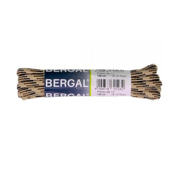 Bergal Schnürsenkel 120cm für Berg und Wanderschuhe beige/braun
