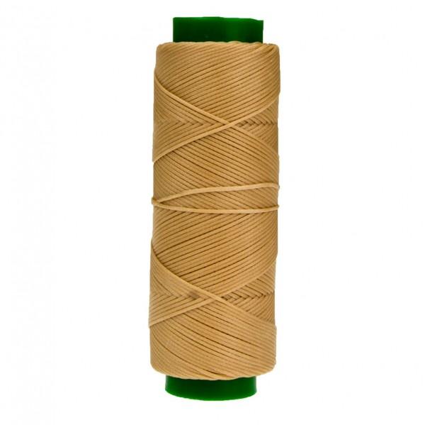 Ledergarn beige aus Polyester stark gewachst 100m
