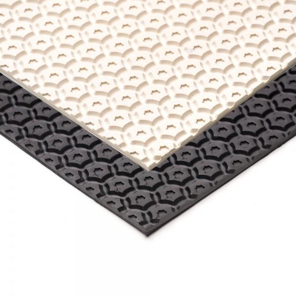 Sohlengummiplatte Hexagon 4,7mm stark extrem rutschfest
