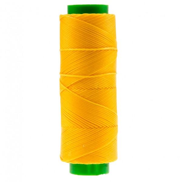 Ledergarn gelb aus Polyester stark gewachst 100m