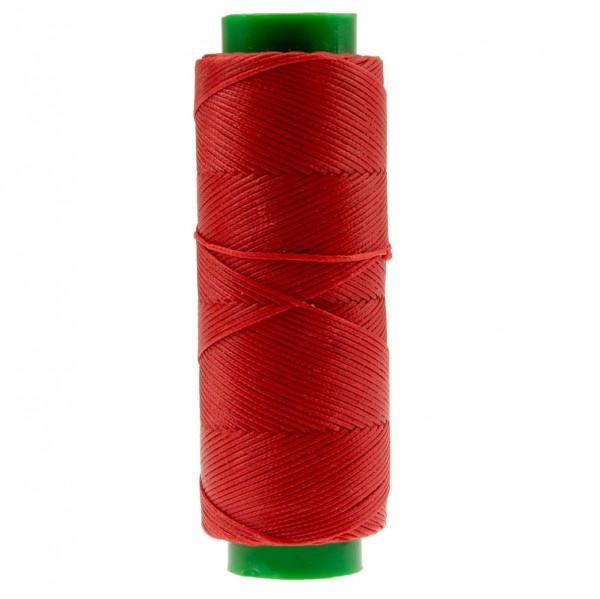 Ledergarn rot aus Polyester stark gewachst 100m
