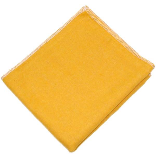 Poliertuch 32x37cm, goldgelb mit weißer Naht