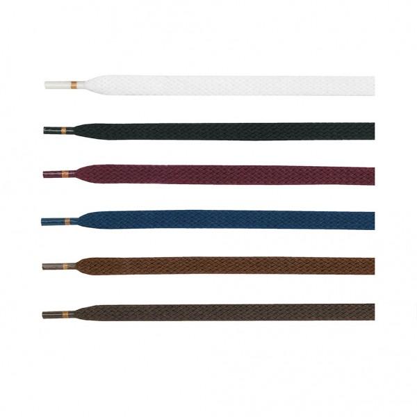 Schnürsenkel flach 120cm geflochten Baumwollqualität von Ringelspitz