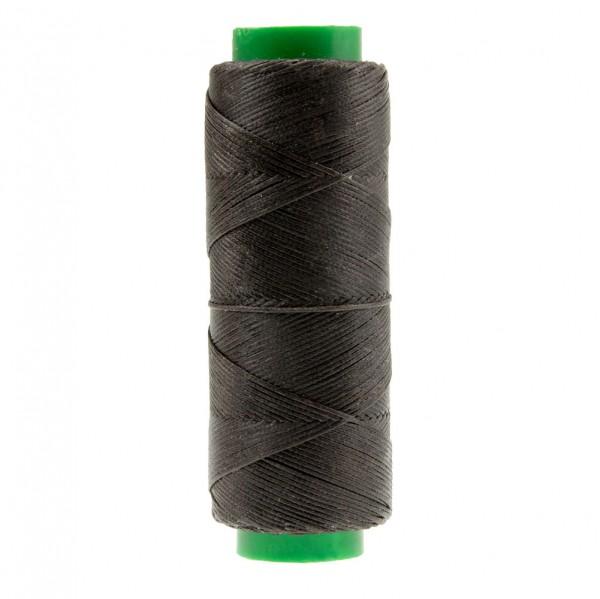Ledergarn dunkelbraun aus Polyester stark gewachst 100m