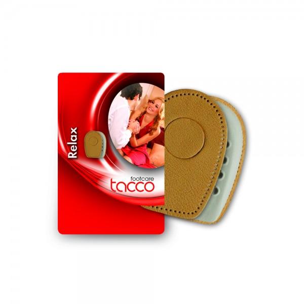 Tacco Relax Fersenkissen mit RelaxFlex Lammnappa Auflage selbstklebend