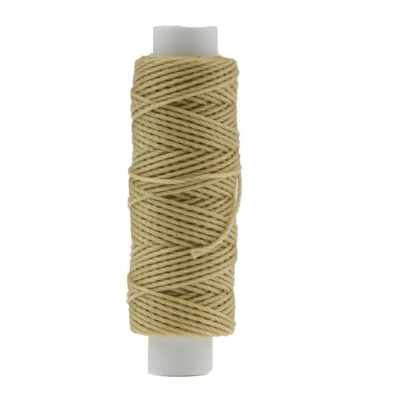 Ledergarn natur aus Polyester stark gewachst zum Handnähen