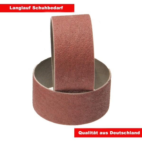 2 x Schleifringe Schleifbänder 55mm Korn 80 fein für Langlauf Schleifzylinder
