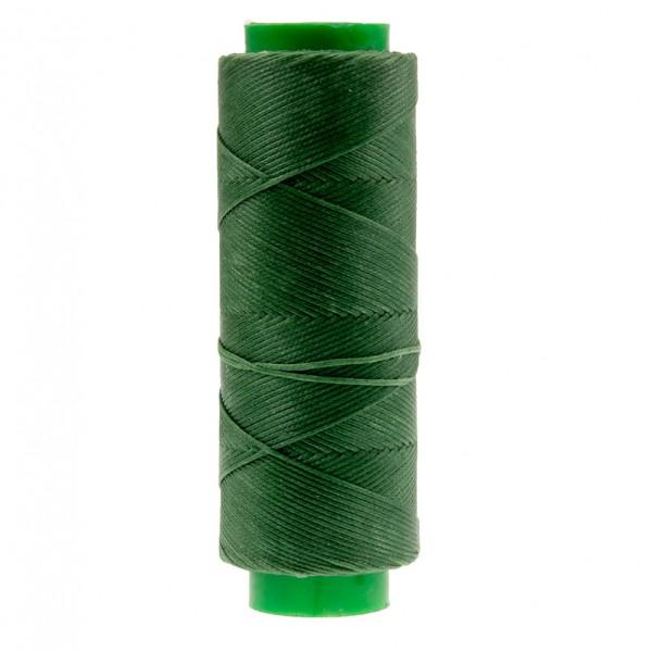 Ledergarn grün aus Polyester stark gewachst 100m