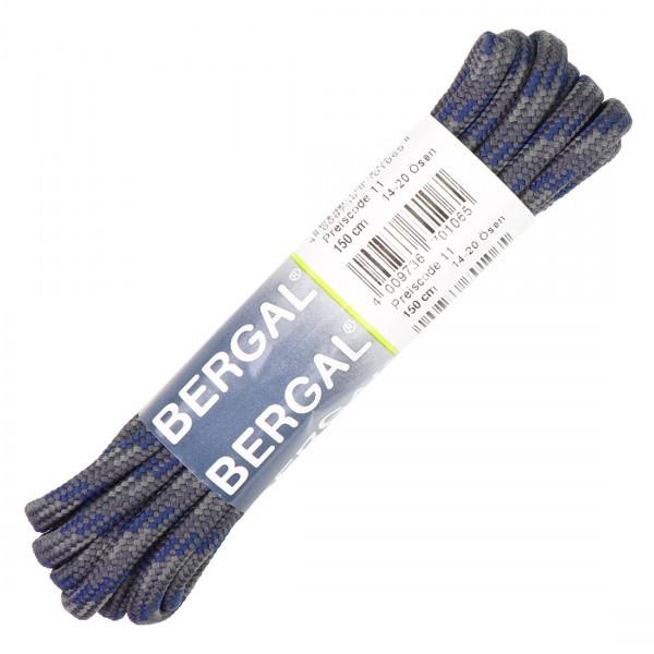 Bergal Schnürsenkel 150cm für Berg und Wanderschuhe blau/grau