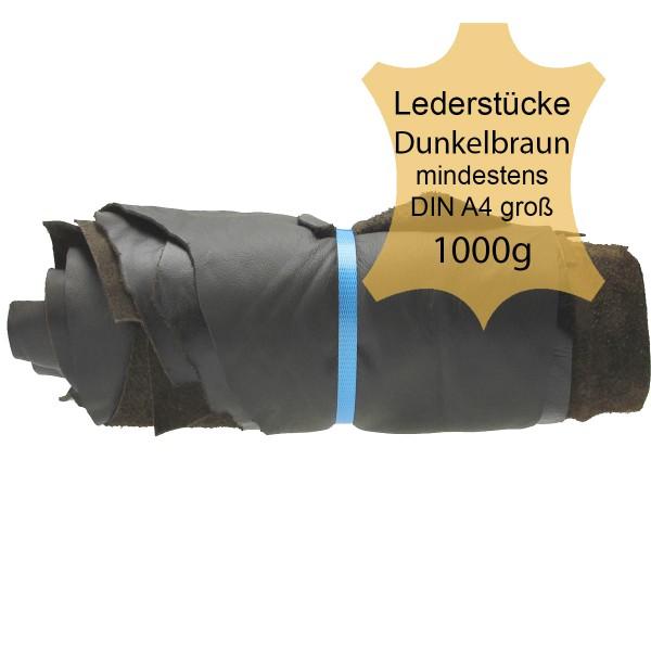 Lederstücke 1kg dunkelbraun, DIN A4