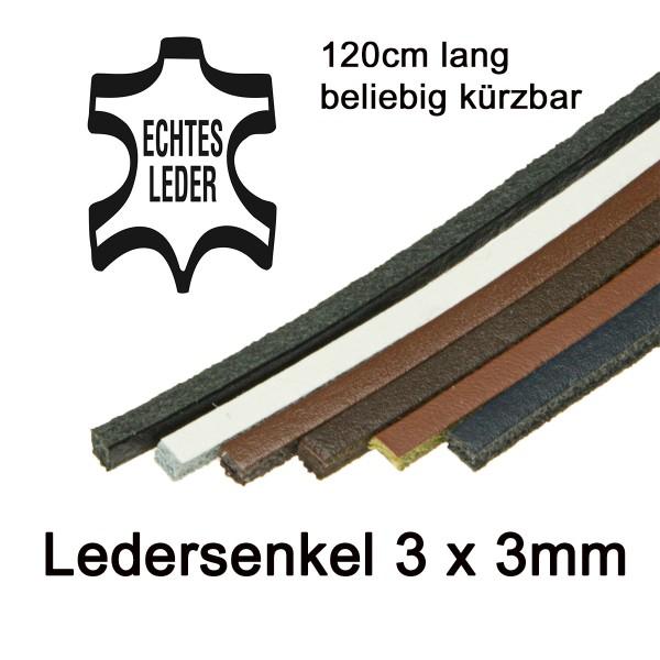 Docksider Ledersenkel Lederschnürriemen für Bootsschuhe u. Mokassins 120cm