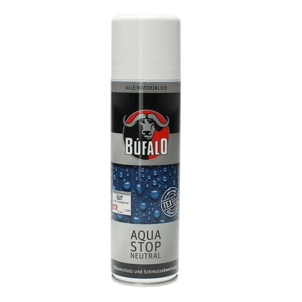 Bufalo Aqua Stop 250ml Imprägnierung für Schuhe Lederbekleidung Textilbekleidung