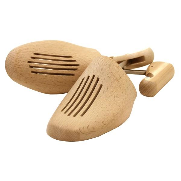 Schuhspanner Schraubspanner aus Buche mit Metallgewinde