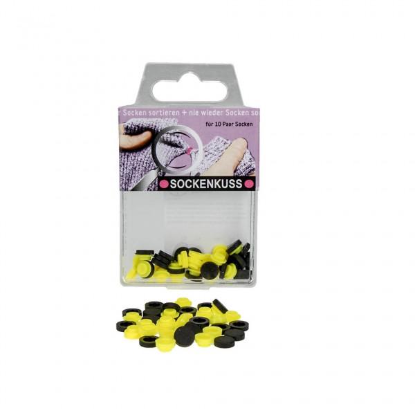 Sockenkuss - 10 Drucknöpfe gelb