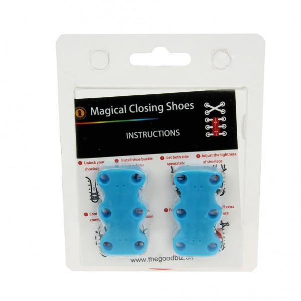 Magnetischer Schnürsenkel blau Magnetverschluss Schnellschnürsystem